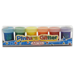 Tempera Glitter 15 Ml 6 Colores Artel