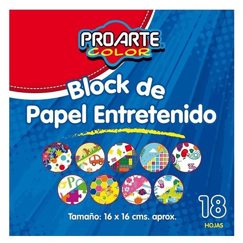 Block Papel Entretenido 16x16 18 Hojas Proarte