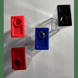 Sacapunta Rectangular Simple C/depósito Faber Castell