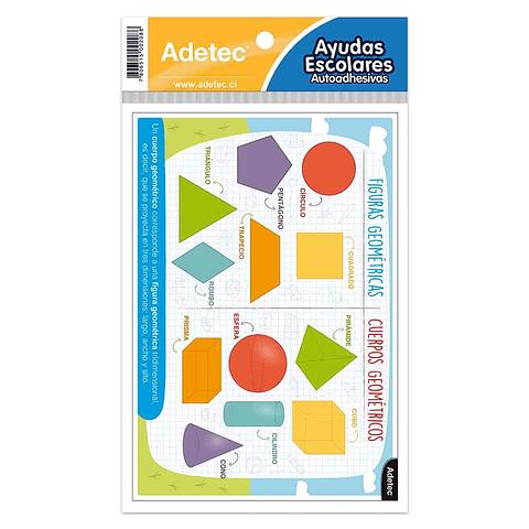 Etiqueta Figuras Y Cuerpos Geométricos Autoadhesiva Adetec
