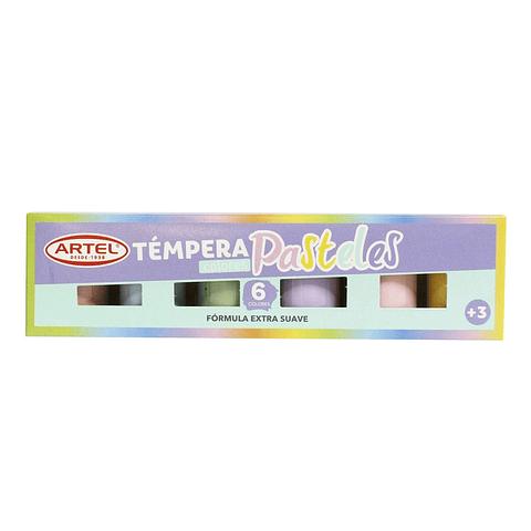 Tempera 6 Colores Pastel Artel