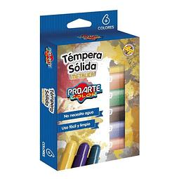 Tempera Sólida 6 Colores Metálico Proarte