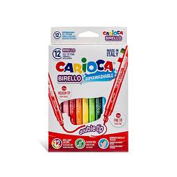 Plumones 12 Colores Birello Carioca
