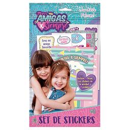 Set Stickers Amigas Por Siempre