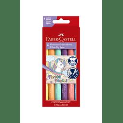Plumones 6 colores Fiesta Pastel Faber Castell