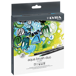 Brush Pen Aqua Brush Duo 24 Colores Lyra