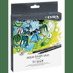 Aqua Brush Duo 24 Colores Lyra