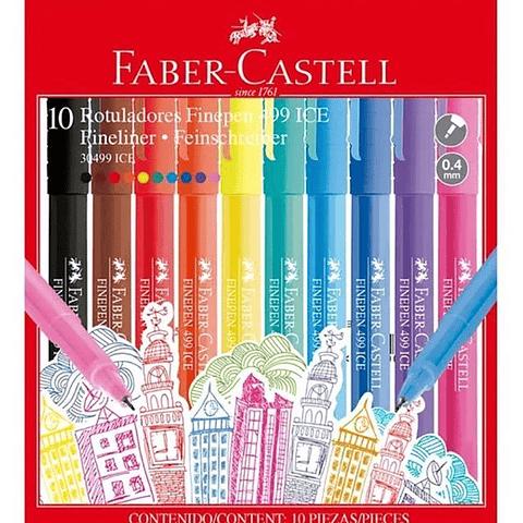 Set 10 Fineliner Ice Faber Castell