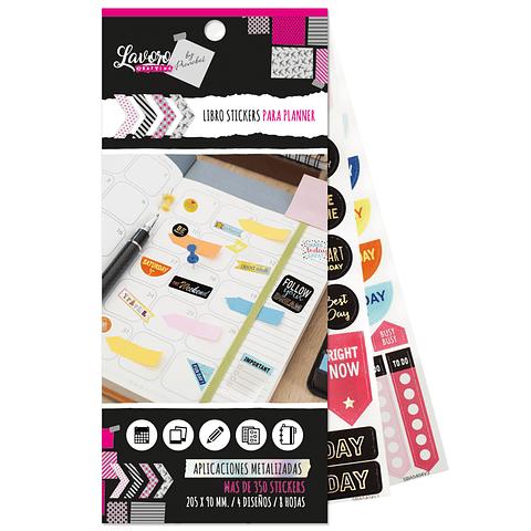 Block Stickers Planners 300 diseños Lavoro