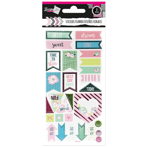 Stickers Planners Florales Lavoro