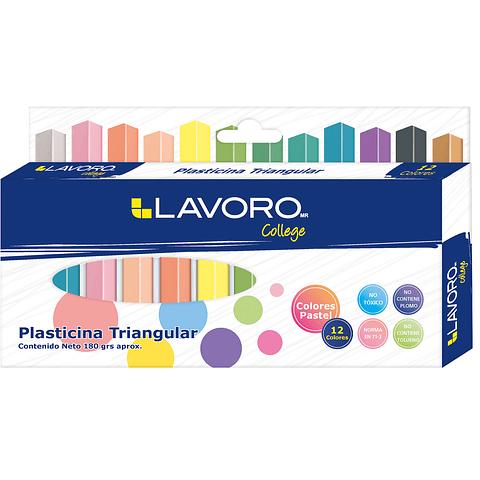 Plasticina 12 Colores Pastel Lavoro