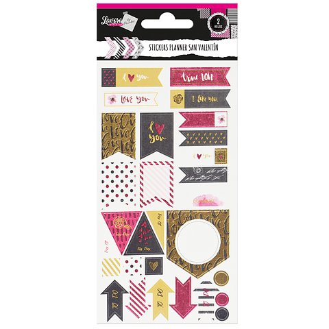 Stickers Planners Diseños Románticos Lavoro