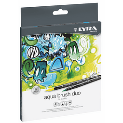 Set Aqua Brush Duo 12 Colores Lyra