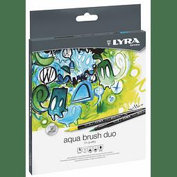 Aqua Brush Duo 12 Colores Lyra