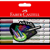 Brush Pen 6 colores metálicos Faber Castell