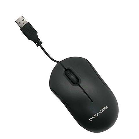 Mouse básico con cable negro Datacom