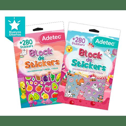 Block de stickers holográficos y papel Adetec