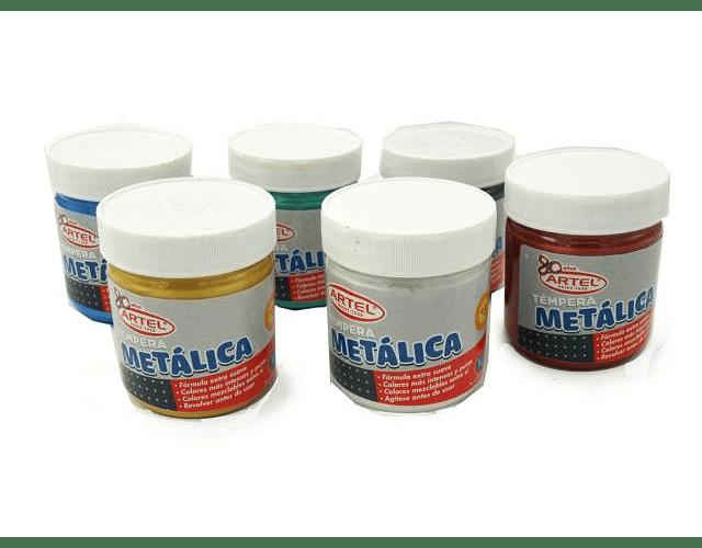 TEMPERA METALICA 100ML. DIFERENTES COLORES ARTEL