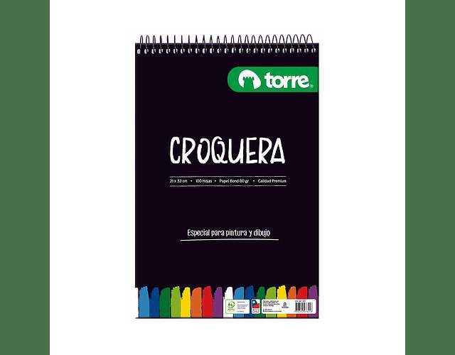 CROQUERA 21X32 100HOJAS OFICIO IMAGIA TORRE