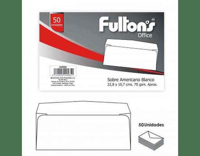 SOBRE AMERICANO BLANCO FULTONS