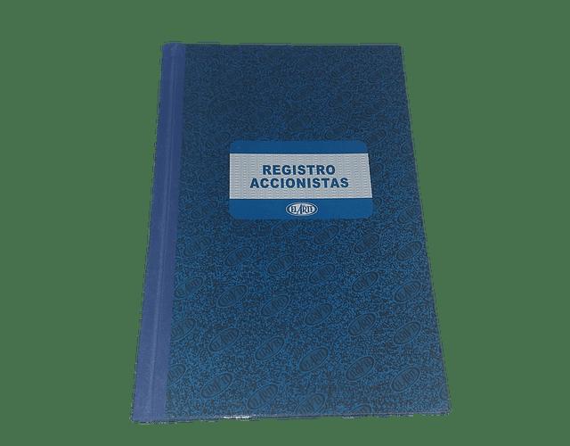 LIBRO REGISTRO ACCIONISTAS 50 HOJAS EL ARTE