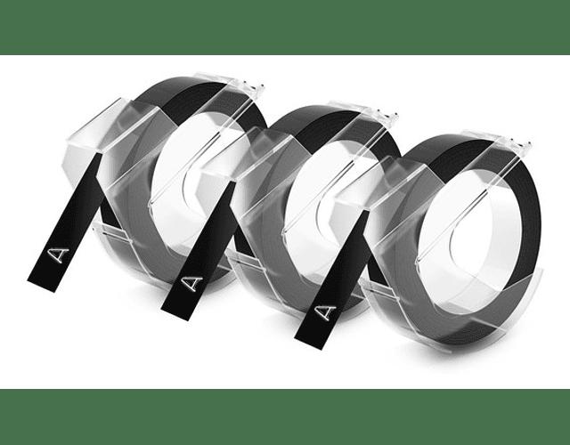 CINTA VINILO/PVC 3 NEGRAS 9MMX3M.