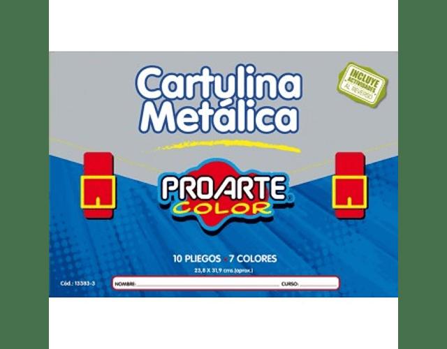 CARPETA ESCOLAR CARTULINA METALICA 10 HOJAS 24X32