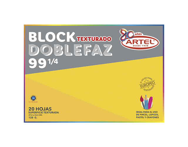 BLOCK MEDIUM 99 1/4 DOBLE FAZ 120 GRAMOS