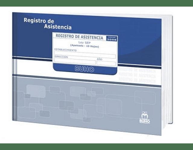 LIBRO CLASES BUHO ASISTENCIA DE ALUMNOS  ESPECIAL