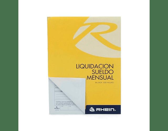 FORM. LIQUIDACION SUELDO MENSUAL BLOCK