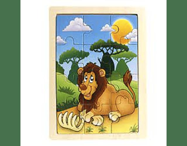 PUZZLE MADERA  48 PZS. ANIMALES