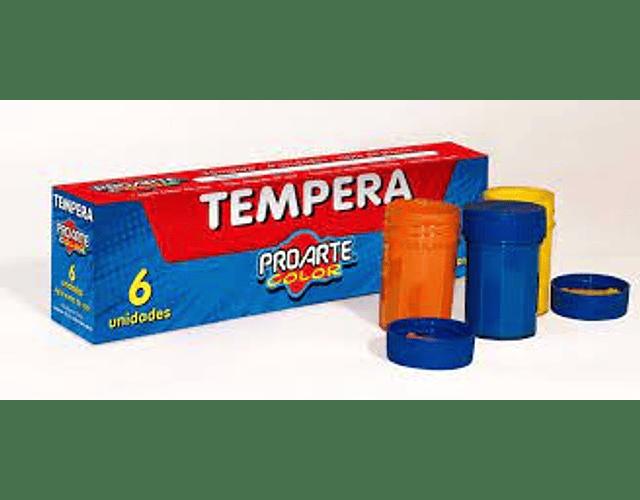 TEMPERA 6 COLORES FRASCO 15CC