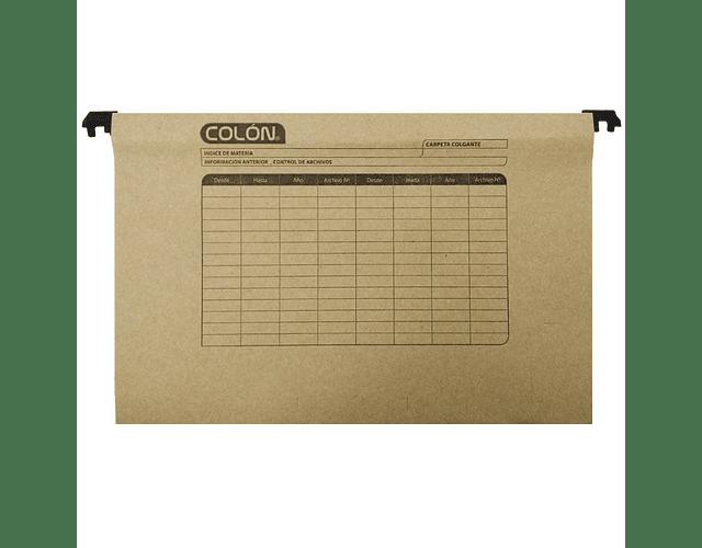 CARPETA COLGANTE B/PLASTICA COLON