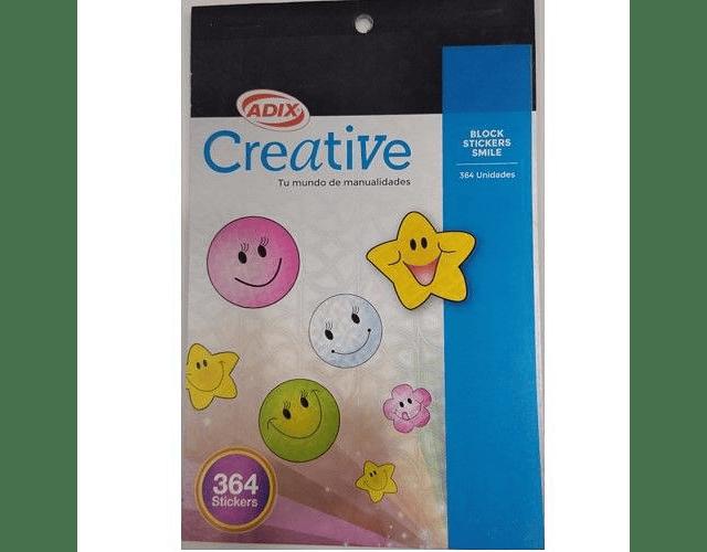 BLOCK STICKER SMILE CREATIVE