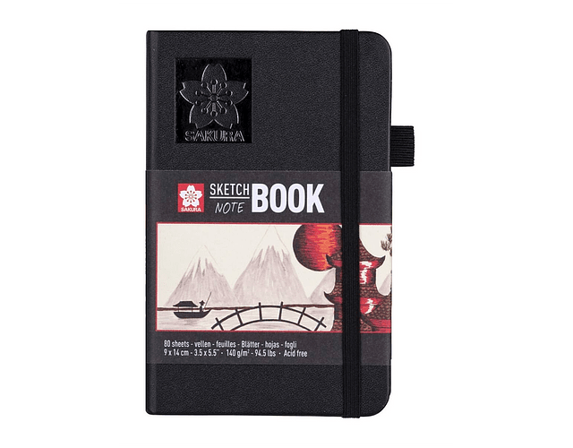 SKETCH BOOK 9x14CM HOJA BLANCO CREMA