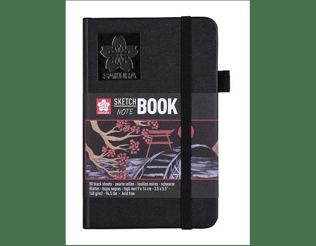 SKETCH BOOK 9x14CM HOJA NEGRA