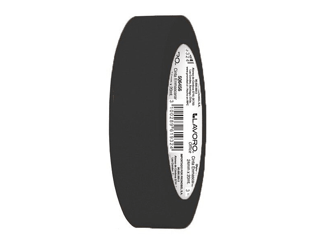 MASKING TAPE 24MMX20MTS COLOR NEGRO