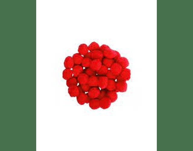 POMPONES 25MM X 10 UNIDADES - DIFERENTES COLORES