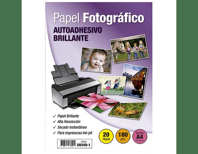 PAPEL FOTOGRÁFICO ADETEC ADHESIVO 180GRS 20 HOJAS A4
