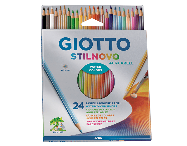 LAPICES GIOTTO 24 COLORES ACUARELABLES
