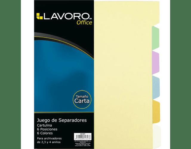 SEPARADOR VINÍLICO LAVORO CARTA 6 DIVISIONES