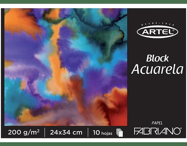BLOCK ACUARELLA FABRIANO 200GRS. 24 X 34CMS 10 HOJAS