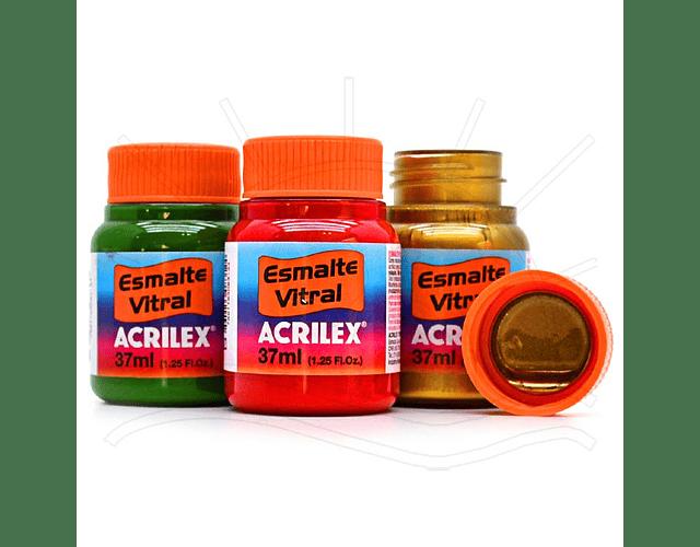 ESMALTE VITRAL ACRILEX 37ML - DIFERENTES COLORES