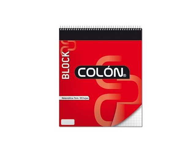 BLOCK APUNTES COLON CON ESPIRAL CARTA MAT.7MM