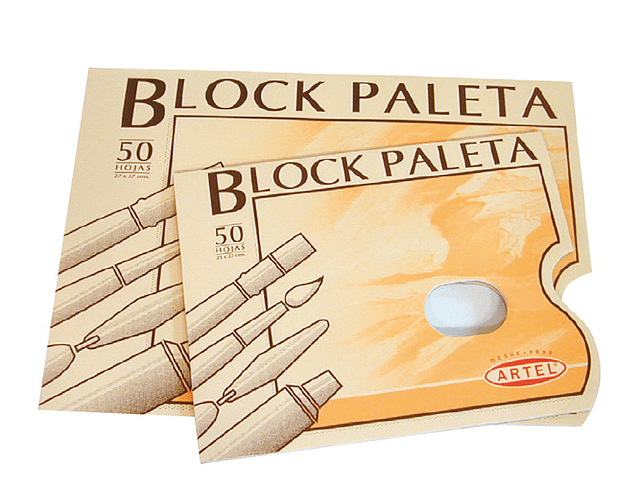 BLOCK PALETA ARTEL 50 HOJAS - DIFERENTES TAMAÑOS