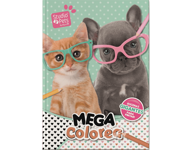 LIBRO 'MEGA COLOREA STUDIO PETS'