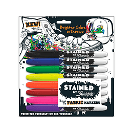 SHARPIE ROPA 8 COLORES