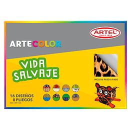 ARTECOLOR VIDA SALVAJE 8 HOJAS 16 DISEÑOS