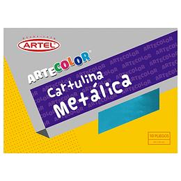 ESTUCHE CARTULINA METÁLICA 10 HOJAS
