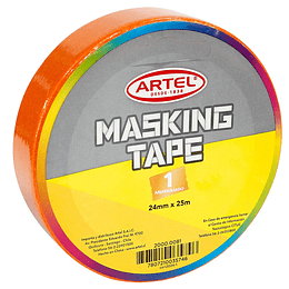 MASKING TAPE 24 MM X 25 MT NARANJO